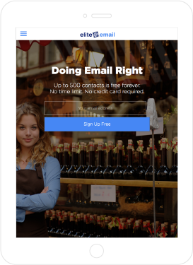 Elite Email, responsive website