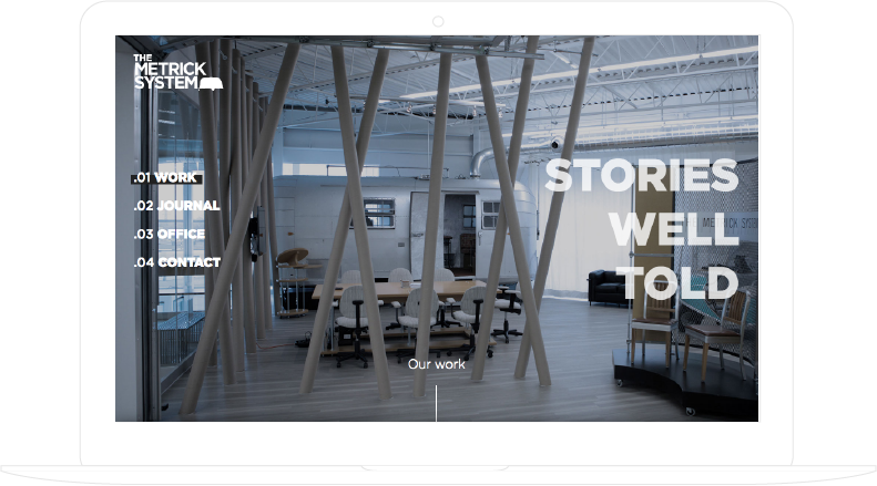 The Metrick System, responsive website developed by Aurelien Vigne